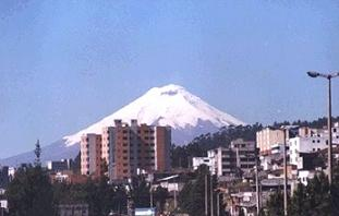 Cotopaxi volcano and Quito city