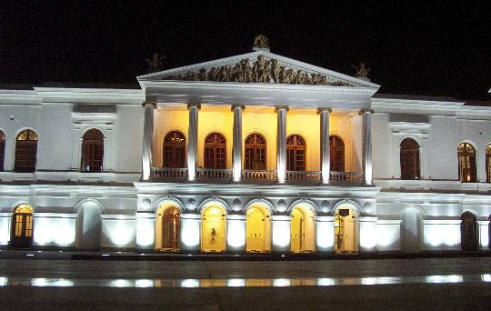 The Teatro Nacional Sucre in Quito Ecuador